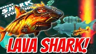 NEW LAVA BABY SHARK!   BOMB & FIRE ARE USELESS!   Hungry Shark Evolution Gadget Gameplay
