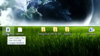 How to Merge SRT subtitle files with a AVI video file