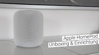 Apple HomePod Unboxing & Einrichtung | deutsch