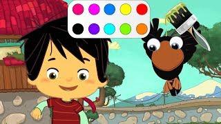 Ege ve gaga çizgi film karakterleriyle   Renkleri öğreniyorum