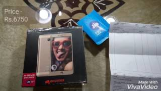 Latest Launched Micromax Vdeo 5 Unboxing and First look in Hindi