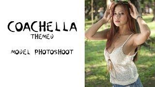 Beautiful Filipina Models in Coachella Themed Photoshoot - BTS Model Portrait Photography