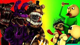 [SFM -BALDI ] FNAF Halloween SPECIAL  Twisted Animatronics VS Baldi's Basics In education