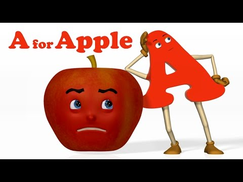 A for Apple Alphabet ABC Songs Phonics Song 3D ABC Songs & Rhymes for Children