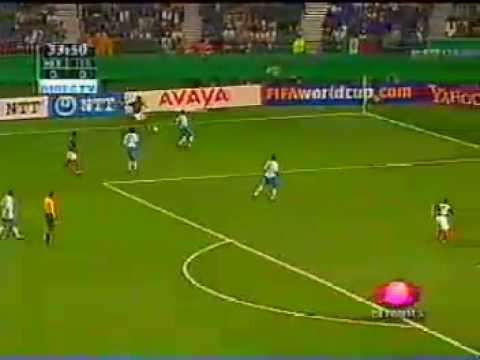Golazo de Jared Borgetti vs Italia en Corea Japón 2002