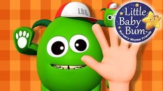 Finger Family   Part 4   Five Little Monster   Nursery Rhymes   By LittleBabyBum!
