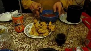 Dizi stew eating in Teheran, Iran