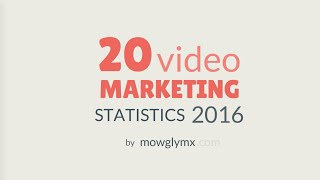 20 Video Marketing Statistics 2016 - Animated Infographics