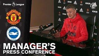 Manager's Press Conference   Manchester United v Brighton   Ole Gunnar Solskjaer