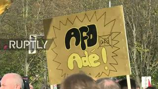 LIVE: Demonstration against AfD in Berlin ahead of party's first day in the Bundestag