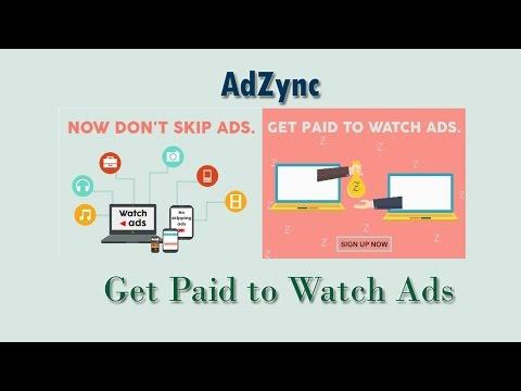 Adzync: Get Paid to Watch Ads - ఆడ్స్ ని చూస్తూ మనీ సంపాదించండి