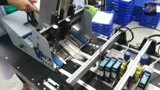 Friction Feeder Stream Feeder + Control Board (CB) HSAJet TIJ Printer + Vacuum Transport Table