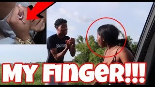 NAIL IN MY FINGER PRANK ON AIRI!!! (SHE CALLED 911)