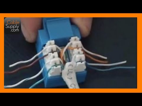 How to Cable a Computer Jack, RJ45, Cat.5E