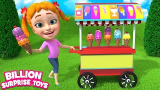 Ice cream song | Baby Girl Sing & Dance - Learn Colors Ice cream man truck Part 2 for Kids children