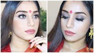 Ashtami/ Bijoya special Bengali traditional makeup for Durga Puja.