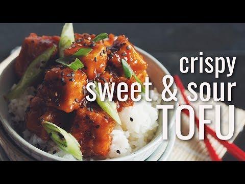 CRISPY SWEET & SOUR TOFU   hot for food