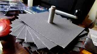 Making a sanding mop or a flap disk