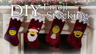 DIY Emoji Stocking