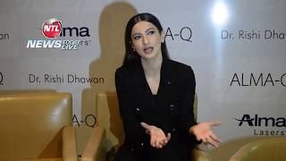 Gauhar Khan Launches Alma Lasers for Max in Chandigarh