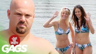 Sexy Bikini Girls Photoshoot Fart Prank
