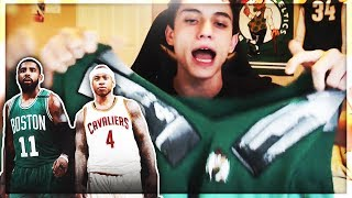 CELTICS FAN REACTS TO ISAIAH THOMAS GETTING TRADED FOR KYRIE IRVING!!!