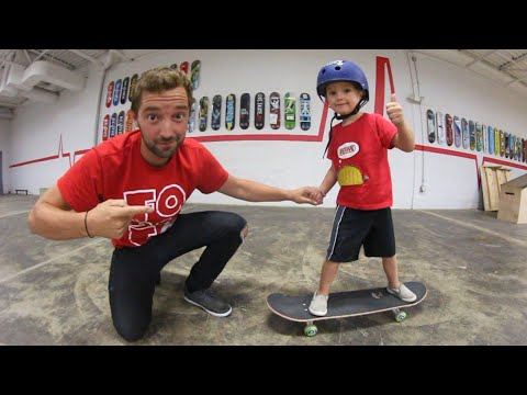 FATHER SON OLLIE TRAINING!