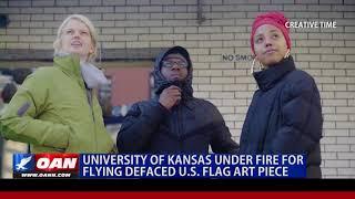 University of Kansas Under Fire for Flying Defaced U.S. Flag Art Piece