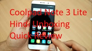 Coolpad Note 3 Lite Unboxing & Review In Hindi