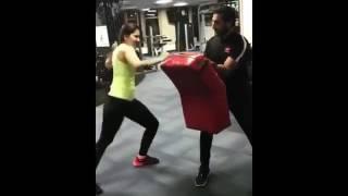 Rashi kanna latest hard workout in gym