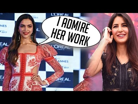 Deepika Padukone SWEETEST Words For Katrina Kaif At Loreal Cannes 2017 Launch