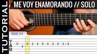 Cómo tocar el SOLO de Me Voy Enamorando en guitarra tutorial