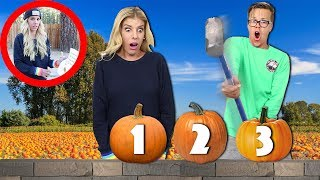Try Not To Smash The Wrong Pumpkin (Secret Hidden Note Found with Mysterious Clues)