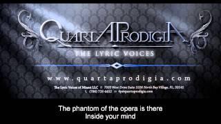 The Phantom of the Opera by Quarta Prodigia, Lyrics video HD