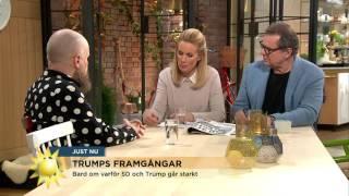 Alexander Bard om varför SD och Trump går starkt - Nyhetsmorgon (TV4)