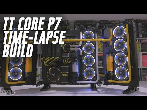 Thermaltake Core P7 Time-lapse Build Video (for case review)