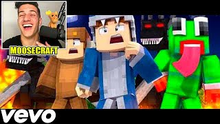 "REACTING TO ♫""SQUADS PLAN"" - Minecraft Parody of Gods Plan by Drake (Music Video) ♫"