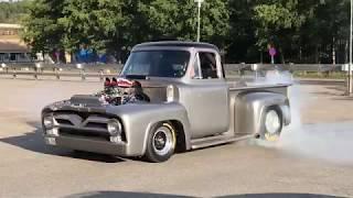 Ford F100 pickup Big block burnout