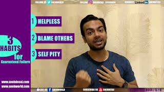 3 Habits for Guaranteed Failure by Sneh Desai | How to Avoid Failure (Video in Hindi)