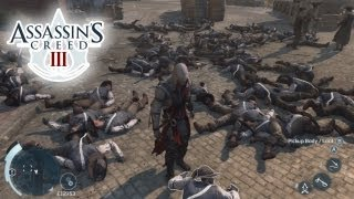 Assassin's Creed 3 (AC3) Epic Battle Gameplay: Longest Fight in AC History! 30 Minutes X360/PS3/PC