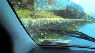 Two Americans Driving Through Sleet Hail Storm at Cliffs Of Moher in Ireland