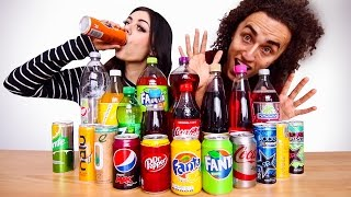 TRY TO GUESS THE DRINKS! SODA CHALLENGE!