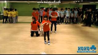 130420 Red team (Wonwoo, Samuel, Jihoon, Junhui & Doyun) Dance for Jisoo