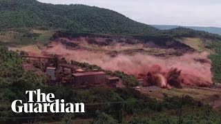 Terrifying moment of Brazil dam collapse caught on camera