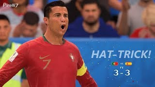 Cristiano Ronaldo vs Spain |Hat-Trick| FIFA Remake World Cup 2018 - | Pirelli7