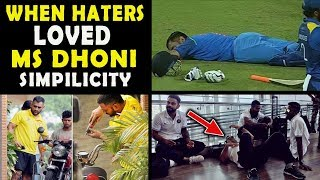 #7 Times MS Dhoni Proved Why Even Haters Fall in Love With His Simplicity   Respect
