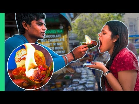 Xxx Mp4 Exotic Indian Street Food Tour In Delhi India Crazy FLAMING FIRE PAAN 3gp Sex