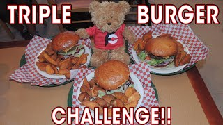 Triple Chat Burger Challenge (THREE 2lb Meals)!!