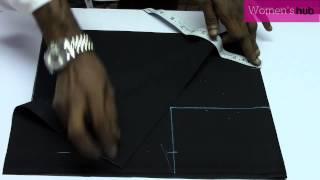 Back Open Blouse   1  Marking & Cutting