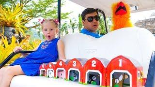Настя и папа - приключения в зоопарке Видео для детей Nastya Learn Animals for Children and Toddlers